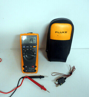 New Fluke 179 TRMS Multimeter  AC/DC, Ampergae, Temperature W/Case Probes Thermo