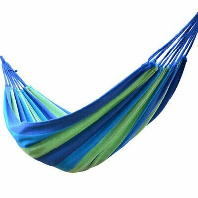 200X80CM Single Person Portable Hammock Outdoor Hammock Canvas Swing Hamm F5