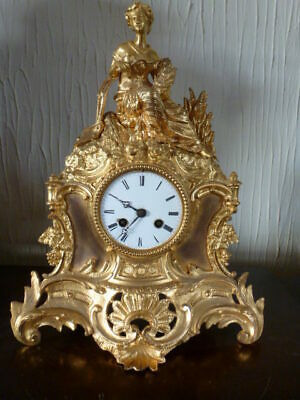 Superb original ormolu French striking mantel clock c1850
