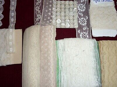 (1)EIGHT Pieces Vintage Lace Mostly Unused Cards GC.
