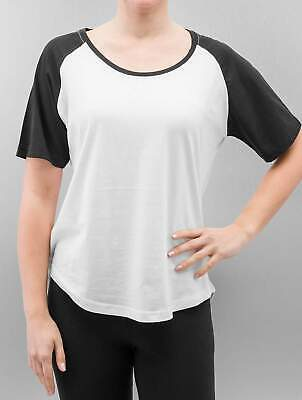 Urban Classics Femme Hauts / T-Shirt Ladies Raglan High Low blanc - 263006 L