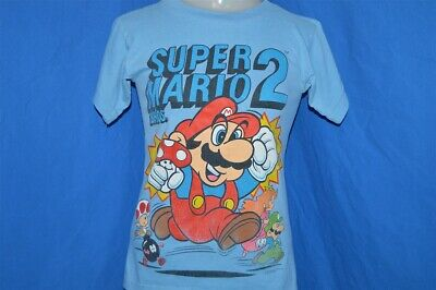 vintage 80s SUPER MARIO BROTHERS 2 NINTENDO BLUE ORIGINAL t-shirt YOUTH MED YM