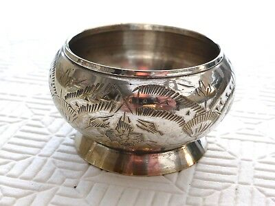 Vintage Silver Plated Chased Floral Patterned Footed Bowl    1400242/243