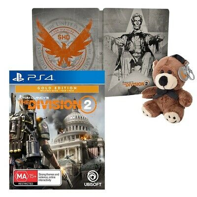 Tom Clancy's The Division 2 Lincoln Steelbook Edition - PlayStation 4 - BRAND NE