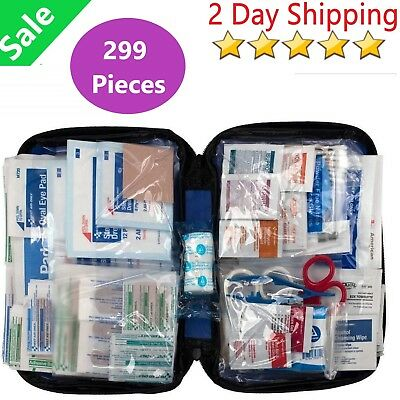 First Aid Only 299 Pieces All-Purpose First Aid Kit, Soft Case Bandage Portable