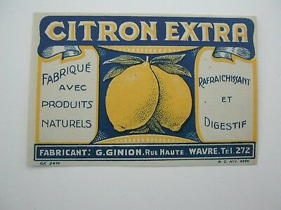 Label citron Extra Ginion Wavre *1331