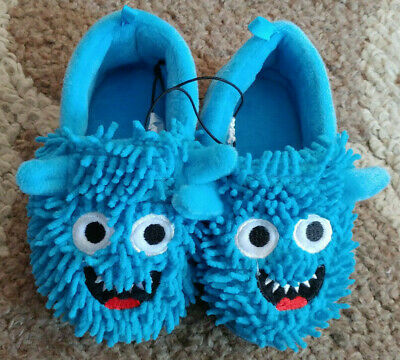db9e3cb9d1a BOY S BLUE MONSTER Slippers all I have is one pair of small left ...