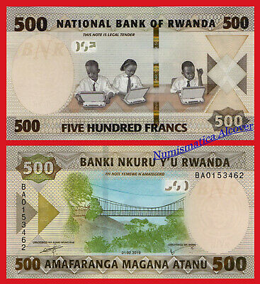 RUANDA RWANDA 500 Francos francs 2019 NEW DESIGN Pick New SC / UNC