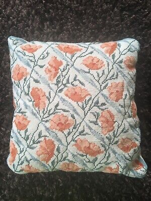 Vintage Hand Stitched Tapestry Cushion William Morris Style