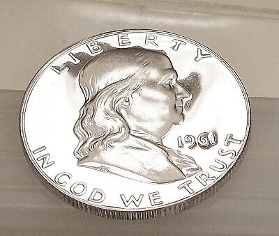 1961  Franklin   Proof   90% Silver >Coin  as  Pictured<  #227  6