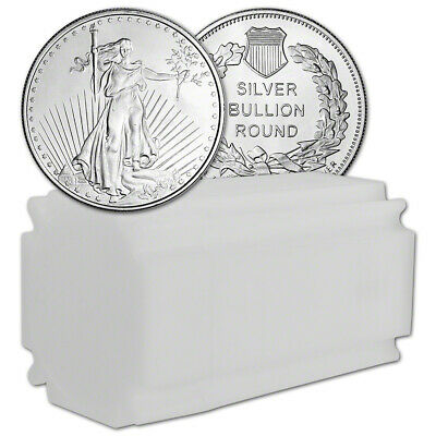 1 oz. Highland Mint Silver Round - Saint-Gaudens Design (Lot, Roll, Tube of 20)