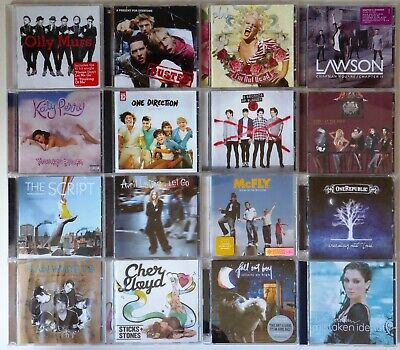 16 Pop Albums; Panic! at the Disco, Katy Perry.. (bundle, collection) All Gd cdn