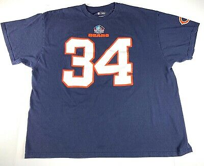 hot sale online b5a43 b9bad NFL CHICAGO BEARS 3XL Walter Payton #34 Hall Of Fame T-Shirt ...