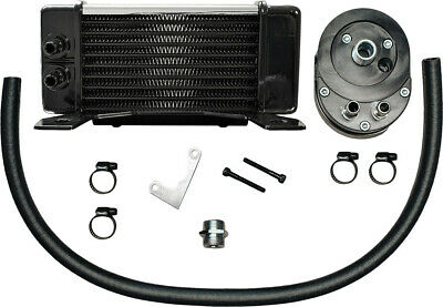 LOWMOUNT 10-ROW OIL COOLER SYSTEM (CHROME) Jagg Oil Coolers