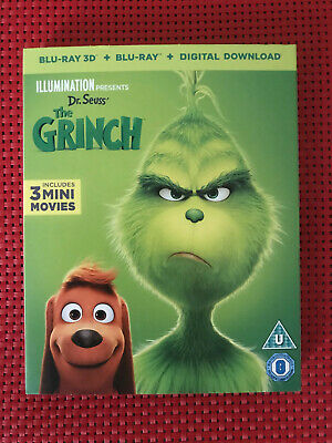 The Grinch - Blu ray 3D + Blu ray + Digital Download - New and Sealed - Cert. U
