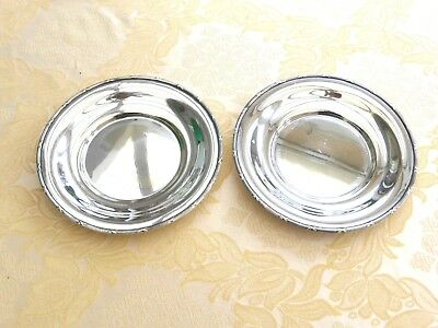 Pair Of Victorian Silver Plated Ribbon & Bows Patterned Dishes   1420075/079