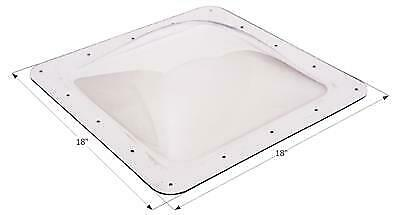"""ICON 01818 RV Skylight Clear Outer Dome 14"""" X 14"""" X 4""""  and Flange  18"""" x 18"""""""