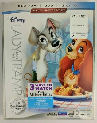 Disney Lady and the Tramp (Bluray + DVD + Digital) Signature Collection Movie