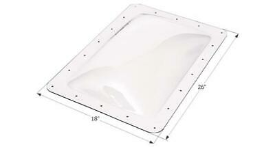 """ICON 01820 RV Skylight Clear Outer Dome 14"""" X 22"""" X 4""""  and Flange  18"""" x 26"""""""