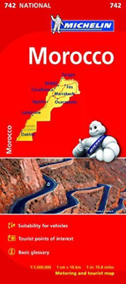 Morocco - Michelin National Map 742 BOOKH NEW