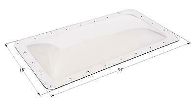 """ICON 01848 RV Skylight Clear Outer Dome 14"""" X 30"""" X 4""""  and Flange  18"""" x 34"""""""