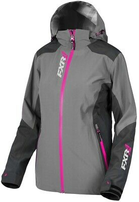 FXR Vertical Edge Womens Trilaminate Jacket Charcoal/Fuchsia SM