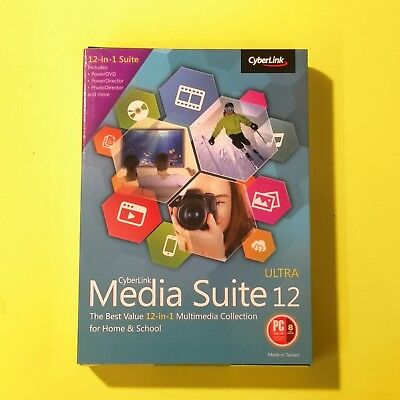 CyberLink Media Suite 12 in 1 Ultra ✔NEW✔ PHOTO DIRECTOR POWER DVD for Windows