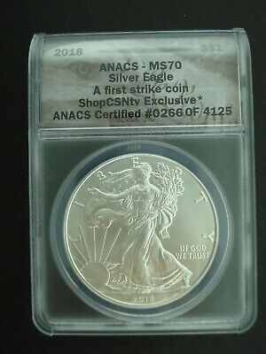 2018 American Eagle Silver Dollar $1 Coin ANACS MS70 First Strike #266 of 4125