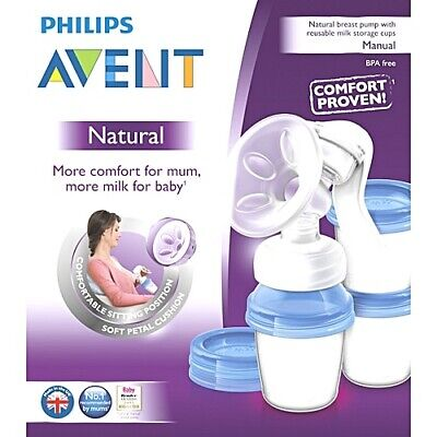 Avent Manual Brest Pump with Milk Storage Cups