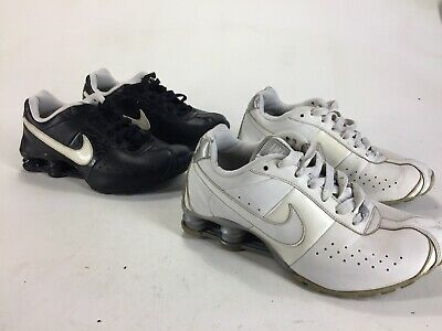 new product 9f5dc 28c51 LOT 2 Pair Womens 2011 Nike Shox Classic II Running Shoes Black White Size  7.5