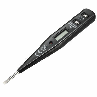 Digital Voltage Tester, AC/DC Contact LCD Test Pen Circuit Detector 12-250V