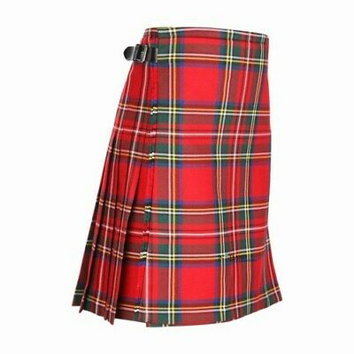 Kids Casual Polyviscose Royal Stewart Kilt aged 0-12 Available - Heavy weight