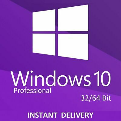 Microofst Windows 10 Pro Professional 32/ 64bit Genuine License Key