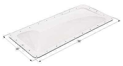 """ICON 01850 RV Skylight Clear Outer Dome 14"""" X 34"""" X 4"""" and Flange  18"""" x 38"""""""
