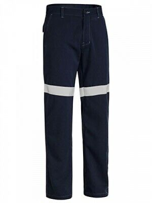 NEW Bisley Pants  Fr Rated Taped Lightweight Pant - in NAVY - 77 - Safety