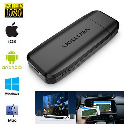 WiFi Wireless HDMI Display Dongle 4K TV Receiver Adapter DLNA Airplay Receiver