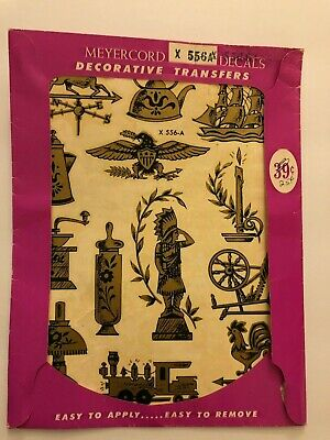 Vintage Meyercord Gold Americana Decorative Decal Transfers X556-A