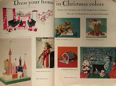 Vtg 1950's Todays Woman Christmas Ideas  #5 1958 Kitschy Crafts Time Warp Rare