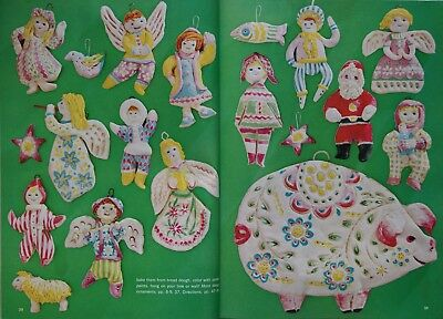 Vtg 1960's Christmas Make It Ideas #11 1968 Kitschy Crafts Time Warp Families