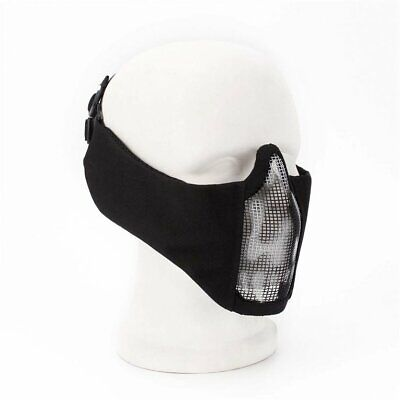 V12 Steel Wire Mesh Half Face Mask Breathable Ear Guard Skull Tactical M S2