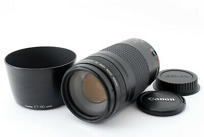 """""""MINT"""" Canon EF 75-300mm f/4-5.6 Ⅱ Lens w/Hood from Japan #407"""