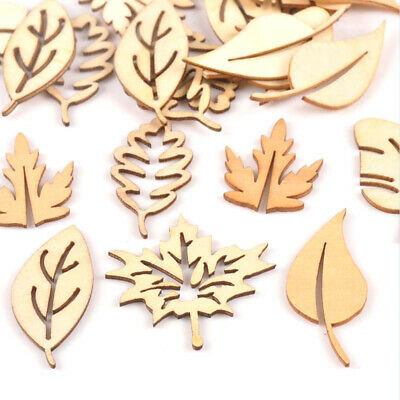 Mixed Leaves Pattern Wooden Scrapbooking Carft Handmade Accessories Decor New