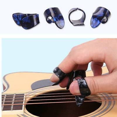 4PCS/Set Plastic 1 Thumb And 3 Finger Nail Picks Accessories Plectrums Guitar