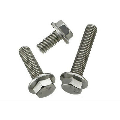 M8 M10 304 Stainless Steel Flanged Hex Head Bolts Flange Hexagon Screws Bolts