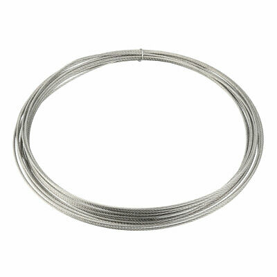 Stainless Steel Wire Rope Cable 1.2mmx5m 18 Gauge 304 Hoist Grinder Pulley