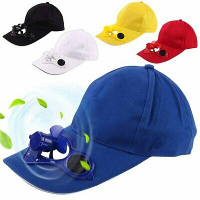 Summer Sport Outdoor Hat Cap With Solar Sun Power Cool Fan For Cycling B EF