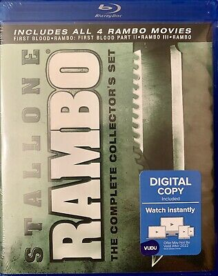Rambo: The Complete  4- Movie Collector's Set (Blu-Ray) New / Sealed Ships  Free