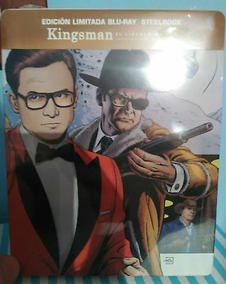 Kingsman el círculo de oro - the golden circle blu ray steelbook Nuevo -10% dto