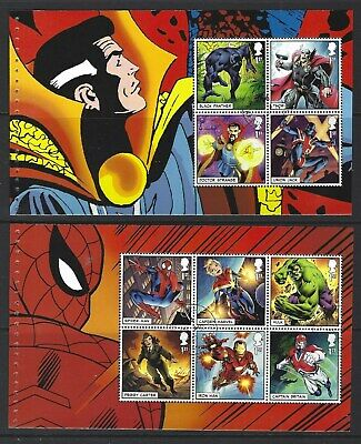 Great Britain 2019 Marvel 2  Prestige Booklet  Panes Fine Used