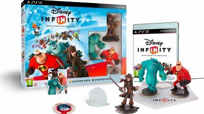 Disney Infinity Game For PS3 Playstation 3 Starter Pack Bundle Figures NEW